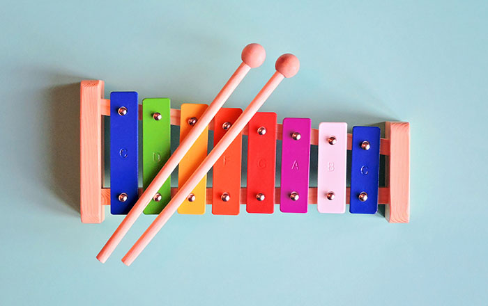 Child's wooden toy xylophone