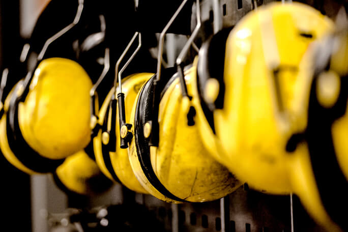 Ear Protectors for workers in the heavy industry